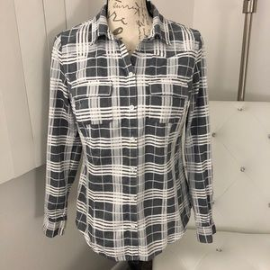 I Heart Ronson Plaid Button-Down Shirt M